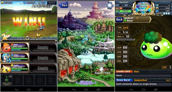 Tampilan Game Brave Frontier RPG