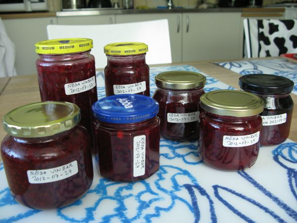 röd vinbärsmarmelad, red currants jam