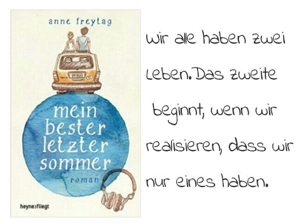 REZENSION||MEIN BESTER LETZTER SOMMER~ANNE FREYTAG