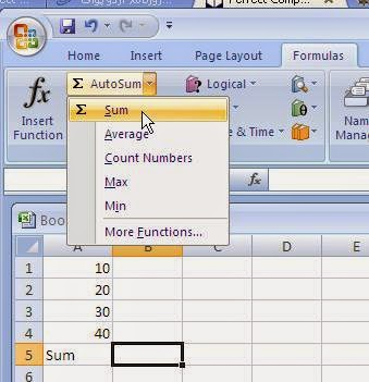 How to use a function through FUNCTION LIBRARY COMMANDS in Excel