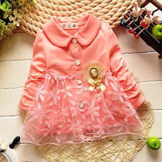 Contoh Model Mantel Gaun Bayi Warna Pink Lucu 9