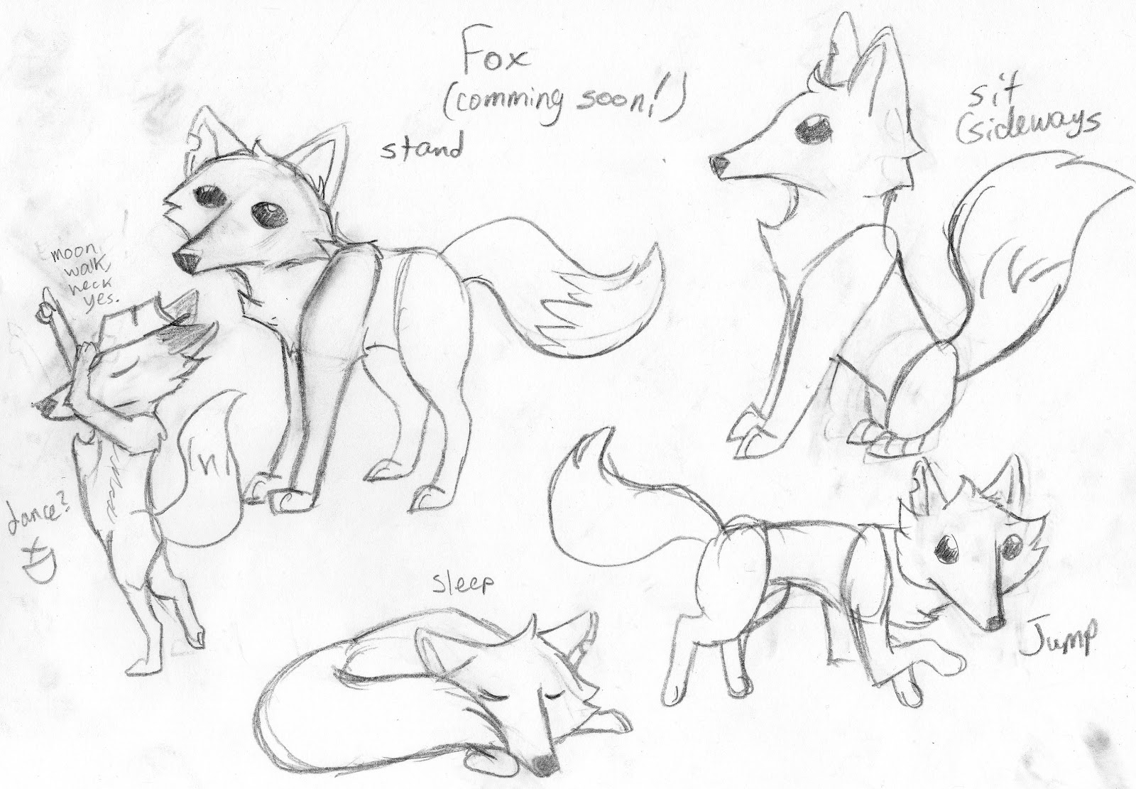 This is an image of Lively Animal Jam Fox Drawing