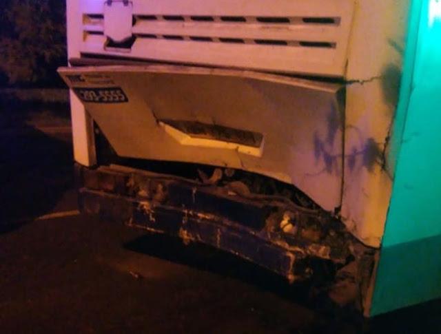 Ночью в Башкирии иномарка влетела в автобус