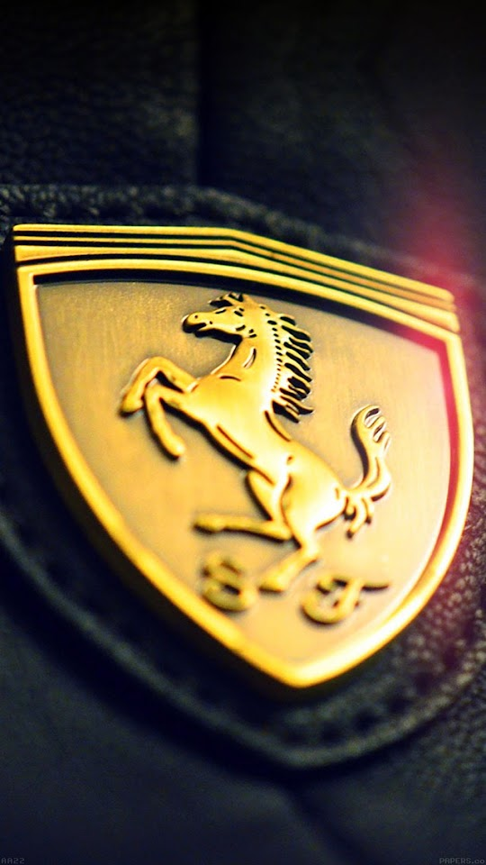 Gold Ferrari Insignia Logo  Galaxy Note HD Wallpaper