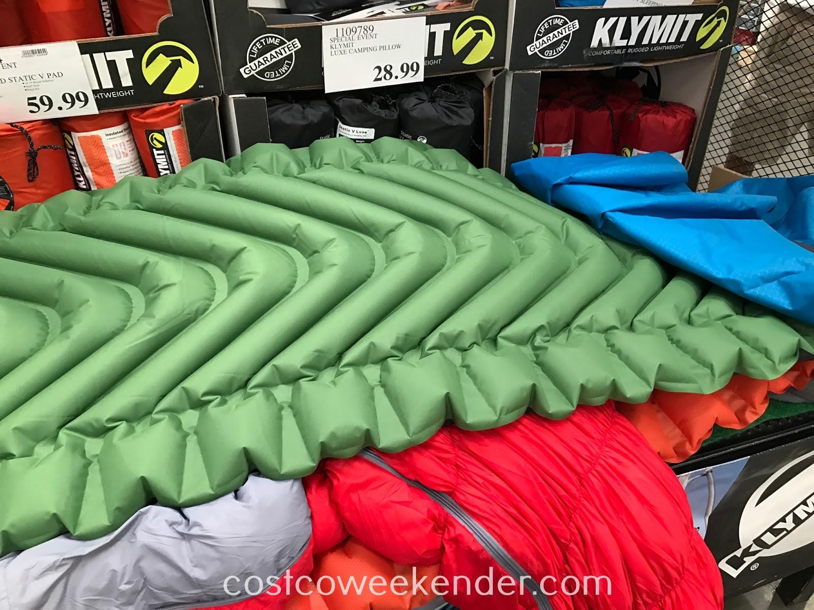 Klymit Static V Full Sized Lightweight Sleeping Pad