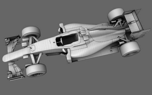 3dsMax高精度法拉利賽車3D模型下載