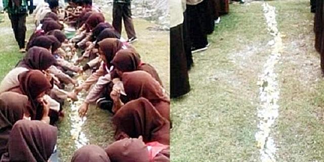 Hukuman Aneh Peserta Pramuka, Makan Beralaskan Tanah Menuai Kecaman