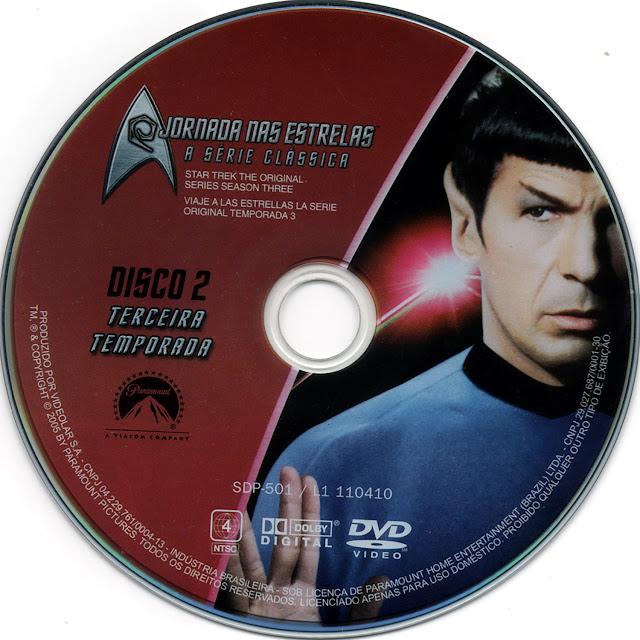 Label DVD Jornada nas Estrelas A Série Clássica Terceira Temporada Disco 2 (Oficial)