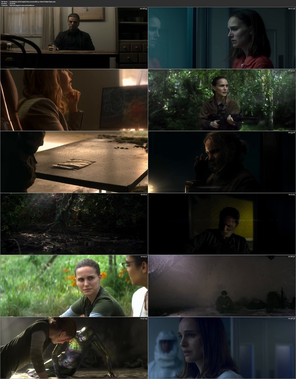 Annihilation 2018 Hollywood 300MB WEB DL 480p at movies500.bid