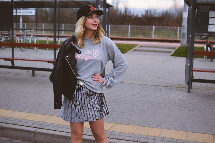 answear, bluza, bonprix.pl, casual, czasnabuty.pl, kozaki, obcas, rosegal, spódniczka, street,