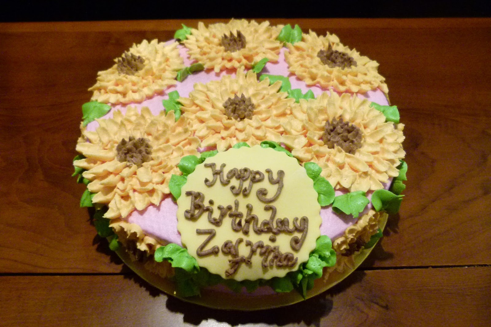 Sprinkles Cakes Cookies Sunflower Birthday Cake Butter Cake With