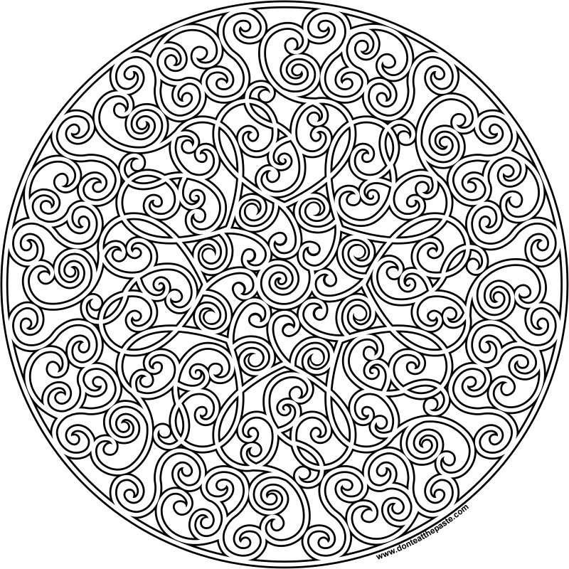 It is a photo of Adaptable Mandalas Print Out
