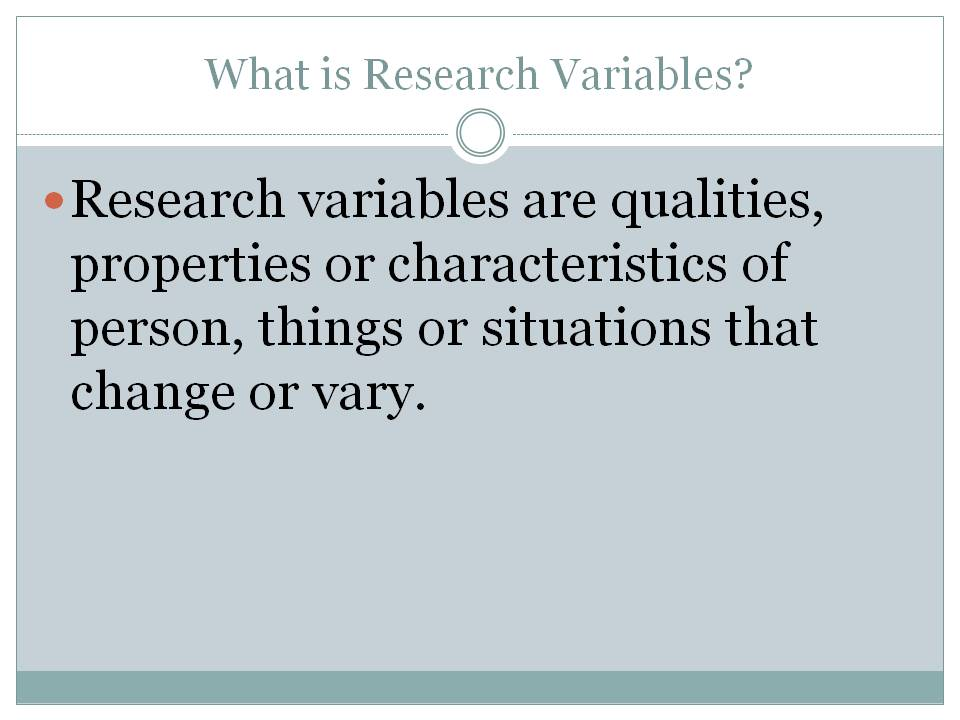 types of research variables in research methodology There are several ways to categorize the various market research  of the methodology or delivery mechanism — many  different types of variables.