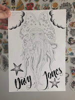 davy jones tattoo flash