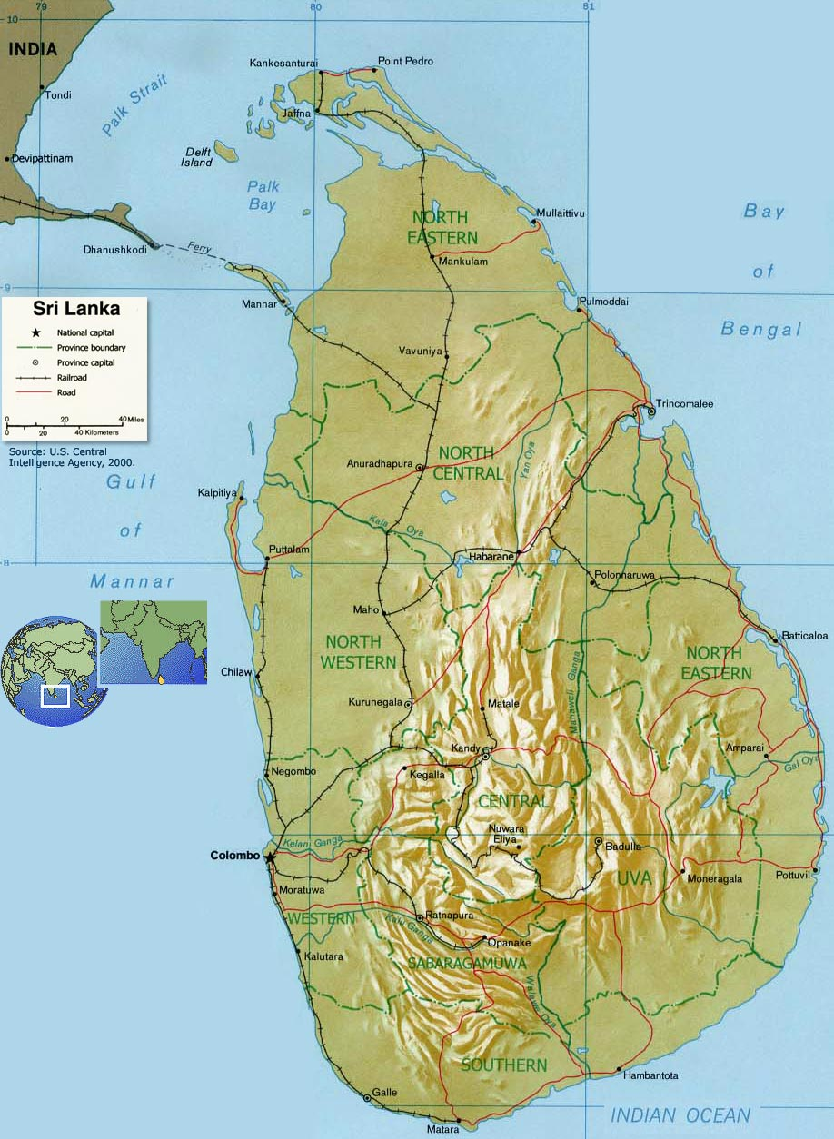 Maps Of Asia Regional Political City Sri Lanka Map Political Regional