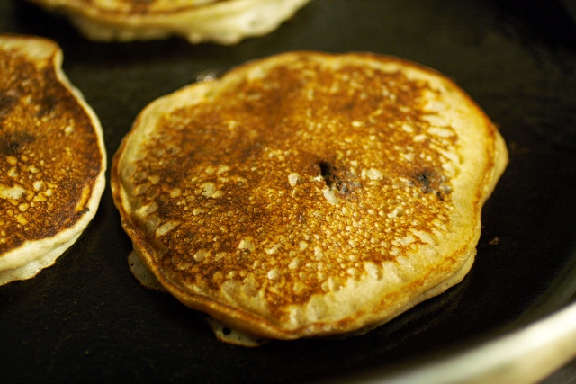 Panqueques y jalea de moras / Mulberry pancakes and syrup