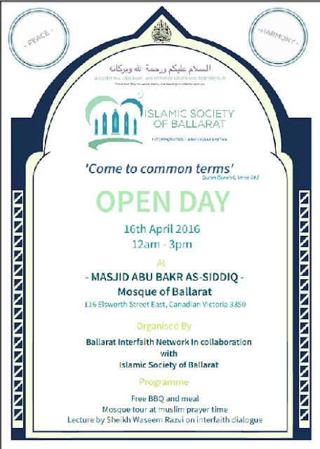 ballarat muslim The islamic society of ballarat estimates 65 muslim families live in ballarat, while an additional 150 muslims are students at federation university.