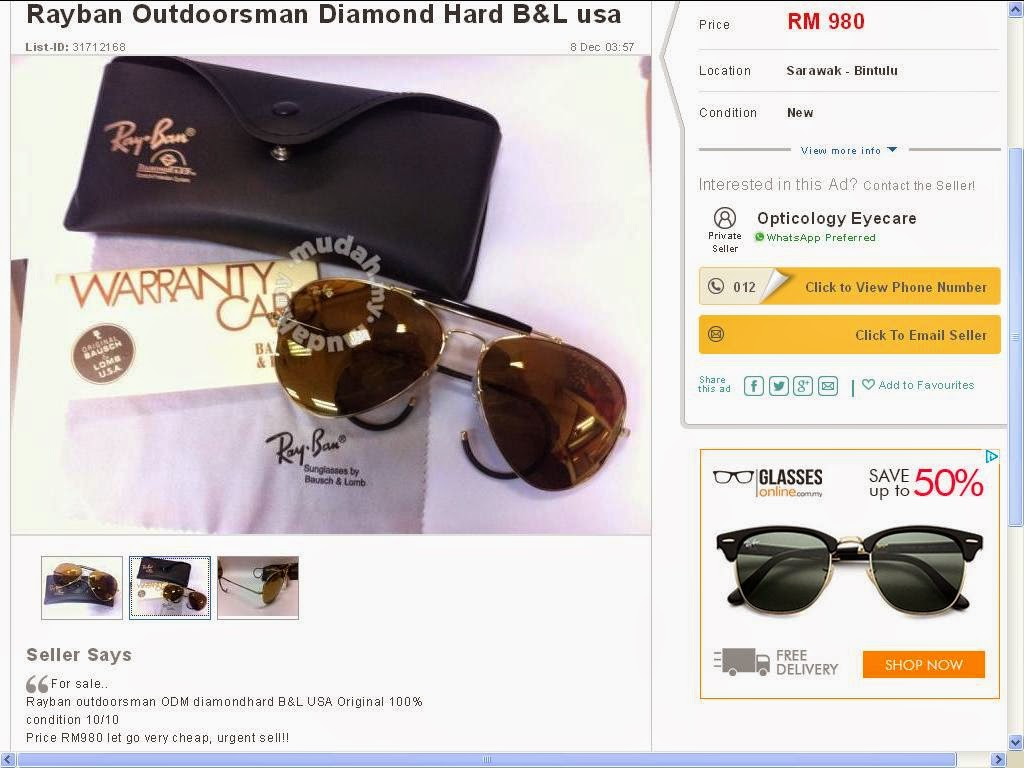 fbb3775308a Rayban   Original vs Fake  Ray-Ban Diamond Hard BL USA vs FAKE