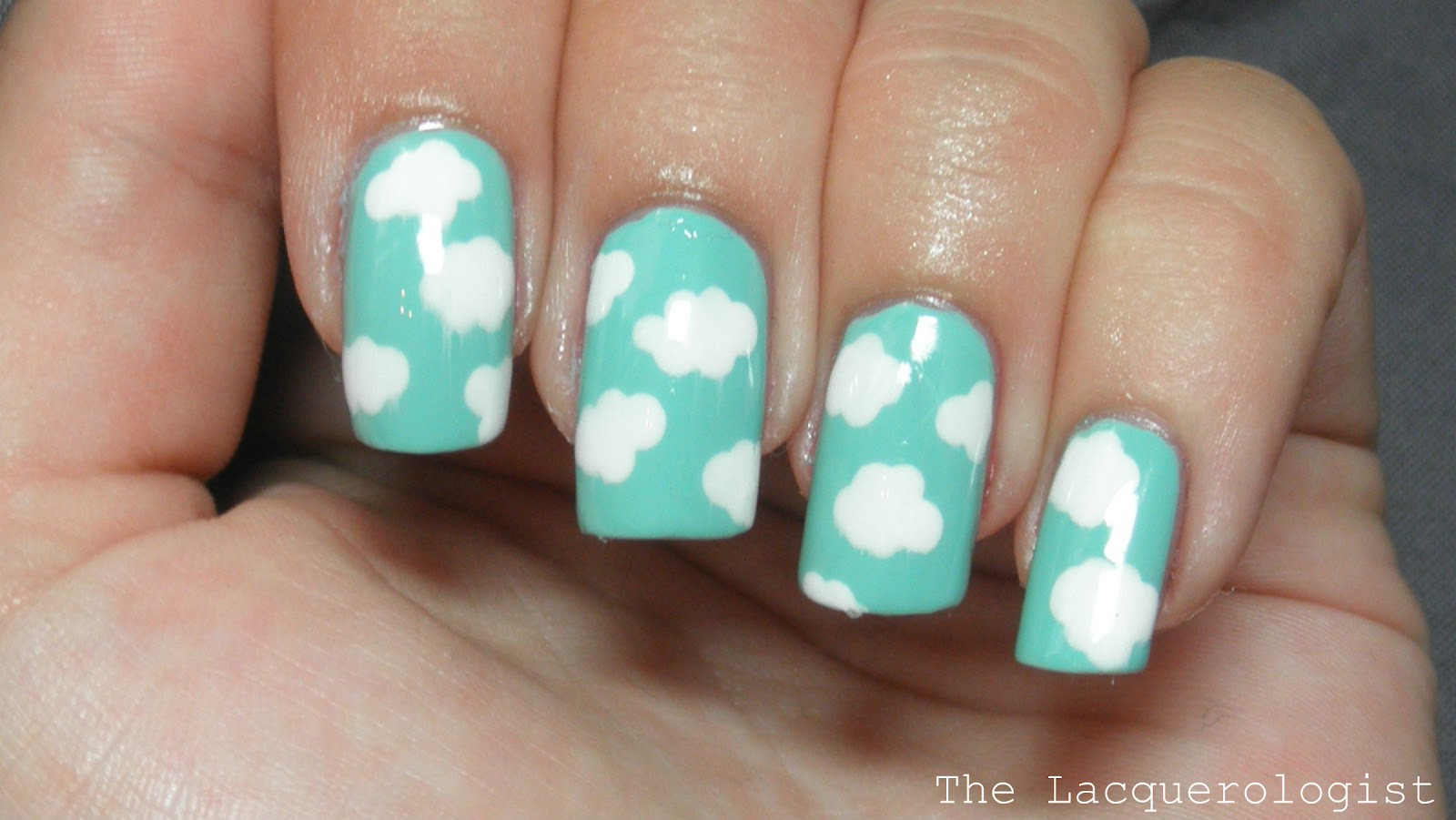 Cloud Simple Nail Art Tutorial Casual Contrast