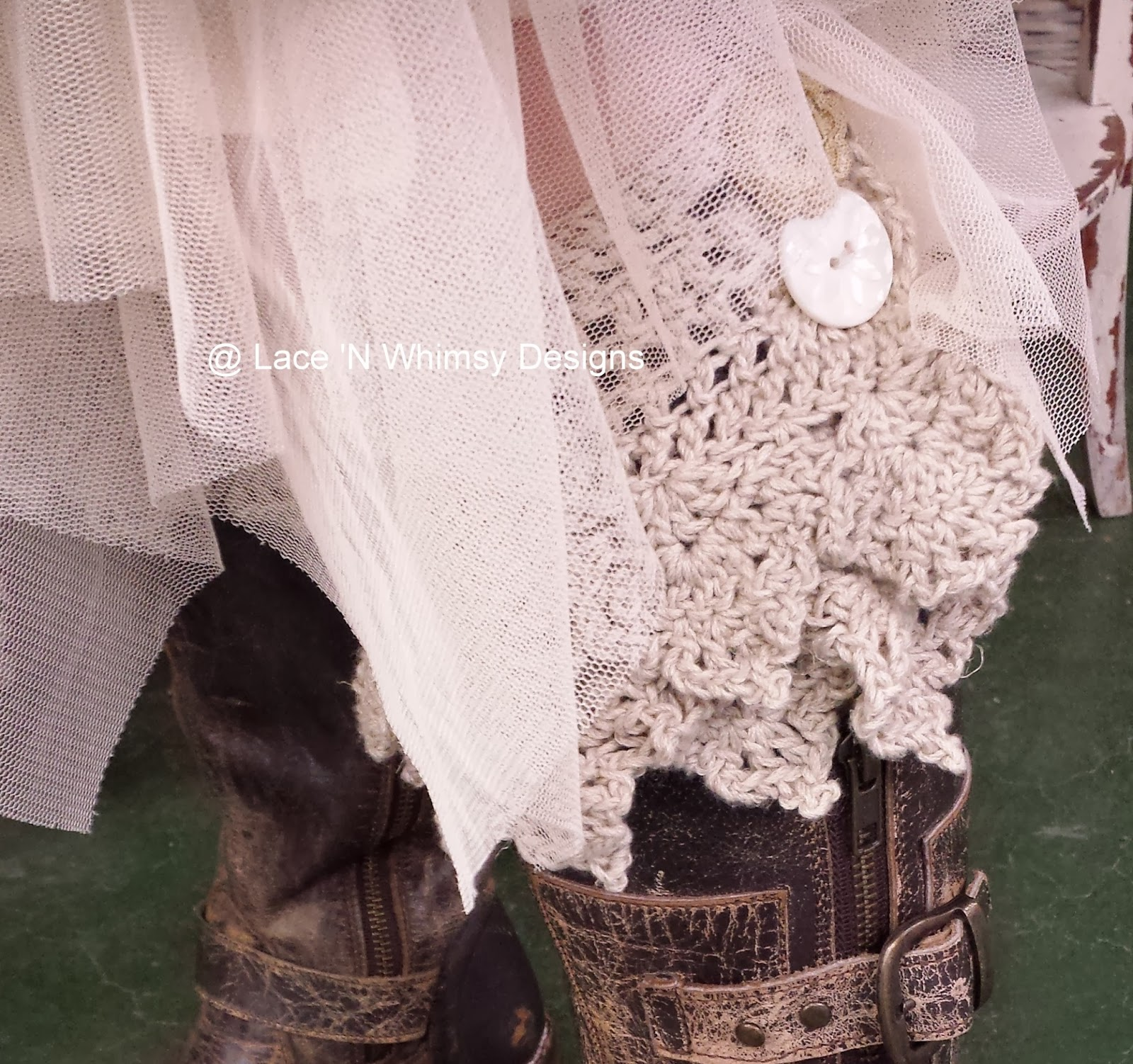 Lace And Whimsy Lace Boot Cuffs Crochet Pattern