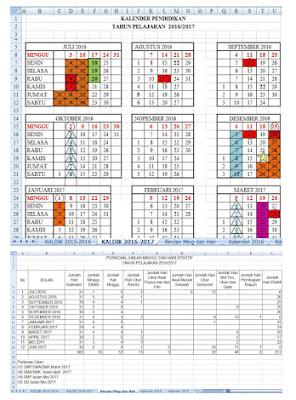 kalender pendidikan terbaru 2016/2017