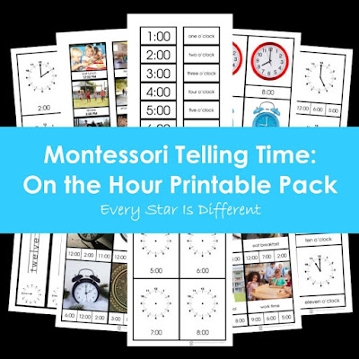 Montessori Telling Time: On the Hour Printable Pack