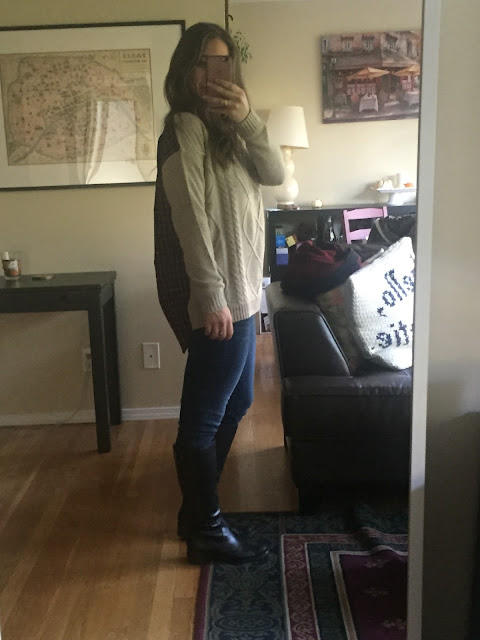 Fanda Sweater, Stitch Fix, Beige, Plaid, Fall Sweater, Sweater Weather