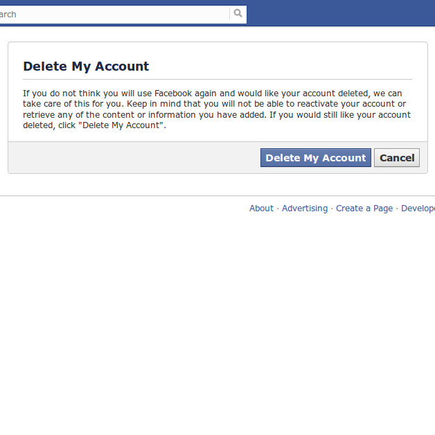 Delete facebook account permanently click on delete account 3 enter the password and captcha and hit ok ccuart Image collections