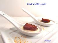 Tataki de atún y yogurt