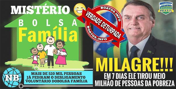 520 mil pessoas pediram desligamento do Bolsa Família - Boatos