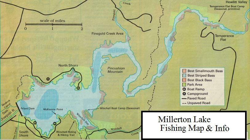 how to fish Millerton Lake and Where to find Big Bass and Crappie