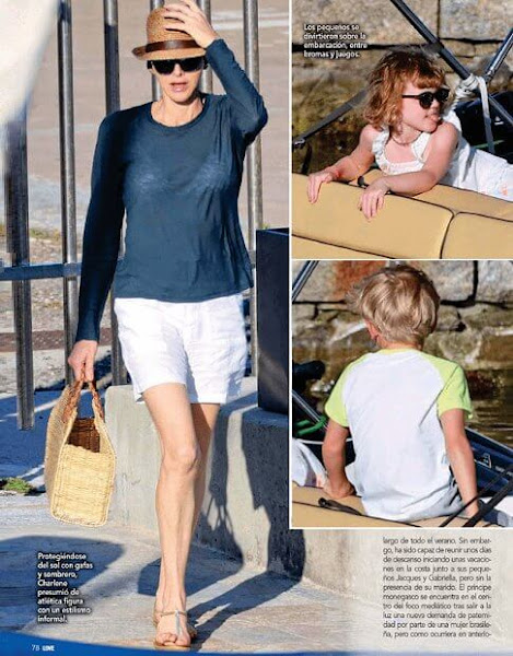 Princess Charlene is currently in Calvi, together with Crown Prince Jacques and Princess Gabriella for 2020 summer holiday