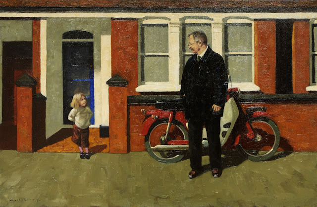Going to See a Man About a Dog. Oils on canvas. 20″ x 30″