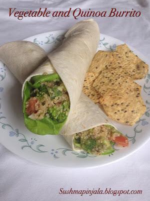 Vegetable and Quinoa Burrito / Wrap
