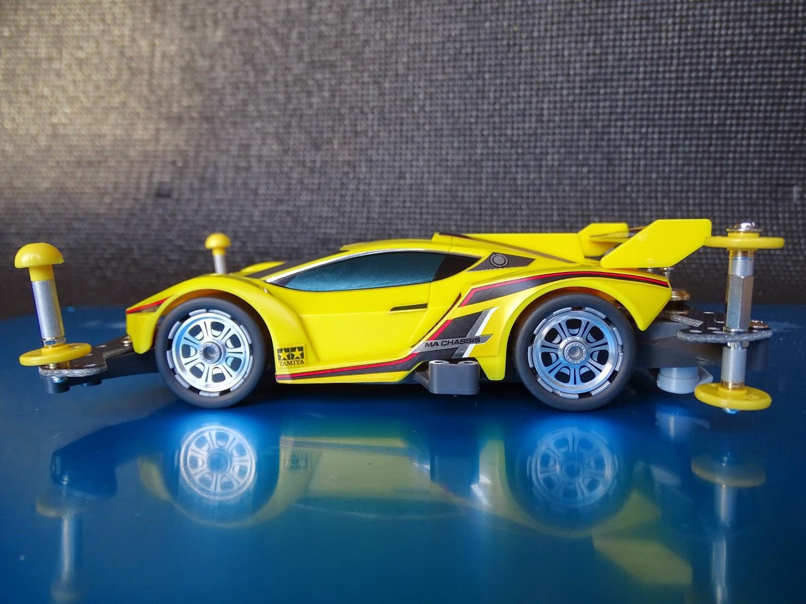 Ball Bearings Car >> Tamiya Mini 4WD MA chassis Festa Jaune Build and Review