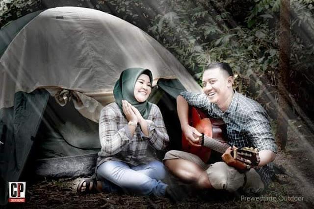 Foto prewedding di hutan kota tangerang