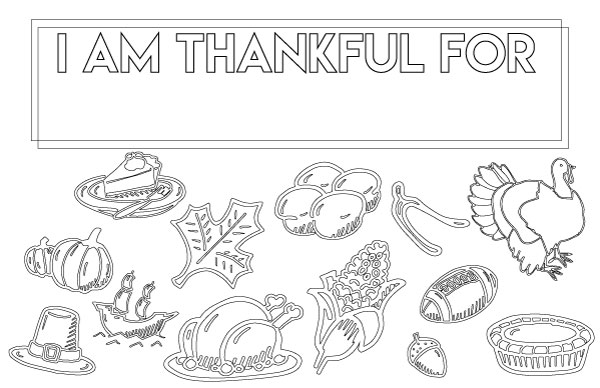 Thanksgiving Coloring Page Placemat Handmade In The Heartland