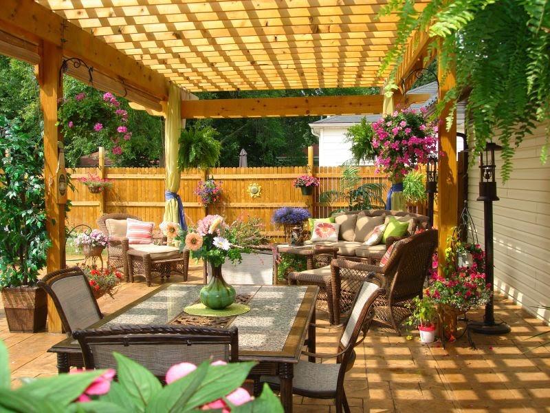 dise o de pergolas para jardin patios y jardines. Black Bedroom Furniture Sets. Home Design Ideas