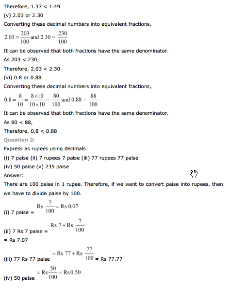 NCERT Text Book Solutions: NCERT Solutions for Class 7th