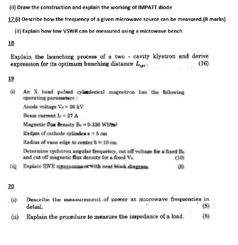 rf and microwave engineering anna university question papers