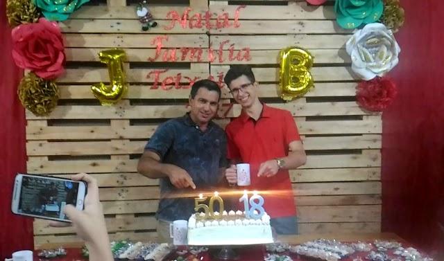 Aniversário de Joseval da Silva Teixeira e de Bruno Gil Teixeira...