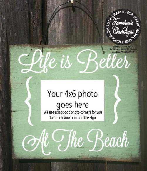 Wooden Beach Picture Frame