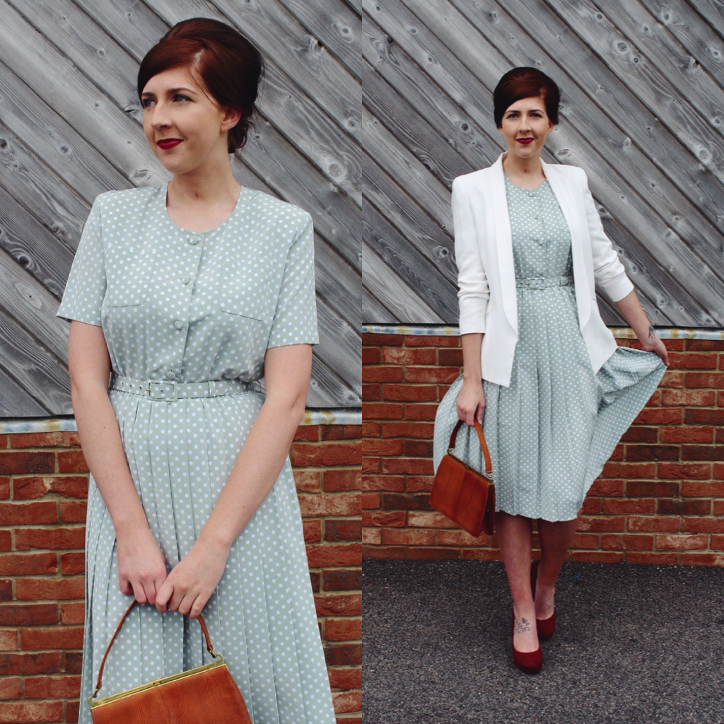 vintage, styleyard, wiw, whatimwearing, halcyonvelvet, asseenonme, 1950sfashion, polkadotdress, newlook, topshop, fbloggers, fashionbloggers, ootd, outfitoftheday, lotd, lookoftheday
