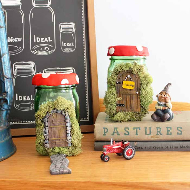 fairy house mason jar