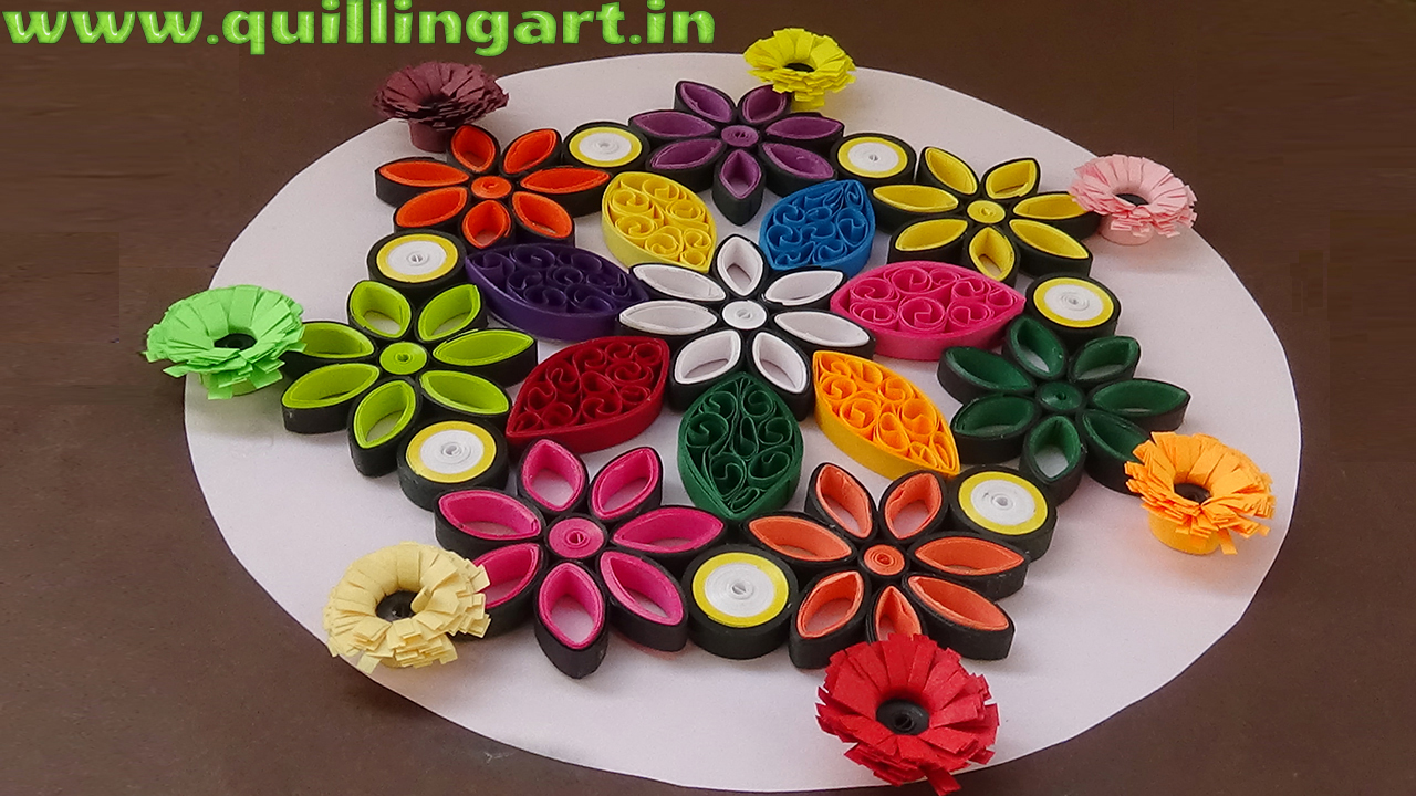 Cute Keychains Wallpapers Paper Quilling Rangoli Designs By Using Quilled Flowers