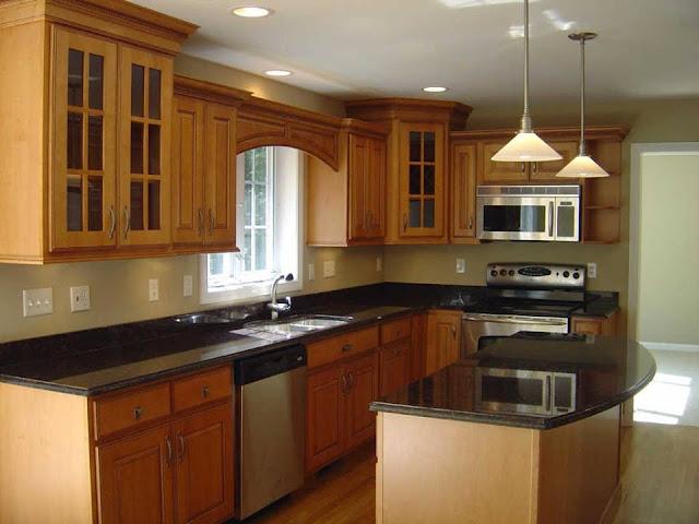 Referensi Desain Dapur Minimalis Dengan Lampu Gantung