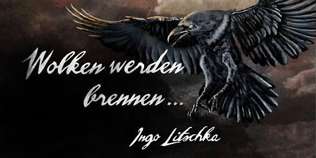 brennende Wolken, Band 2 der Gil Kayn Fantasy Serie von Ingo Litschka, mit Coverdesign von Sina Holste