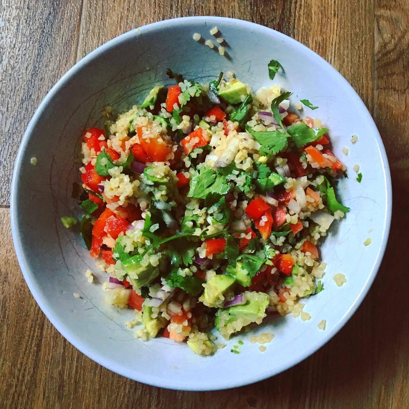 Simple Vegan Bulgur Wheat Salad