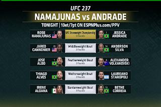 UFC 237 Prelims Eutelsat 7A/7B Biss Key 12 May 2019