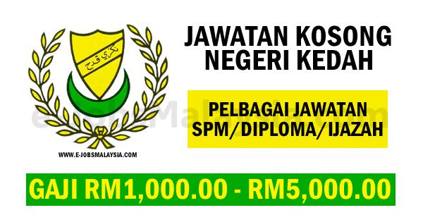 Pengambilan Jawatan Kosong Terkini Di Negeri Kedah